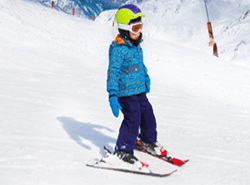 English ski lessons kids children italian swiss alps cervinia automn november to spring april, mai