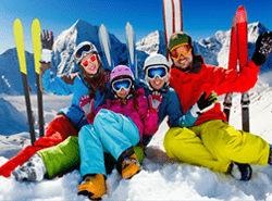English skiing lessons italian swiss alps cervinia italy november automn to april springtime
