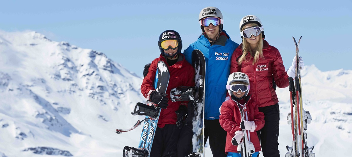 Fluent english ski lessons italian swiss alps cervinia slider3
