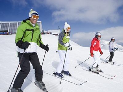 british ski group lessons in english italian swiss alps cervinia