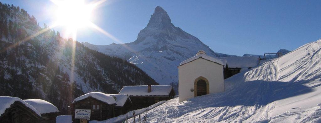 Zermatt april skiing italian alps